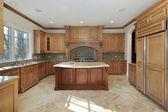 Kitchen in contemporary home — Stockfoto