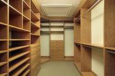 Master bedroom closet — Stock Photo