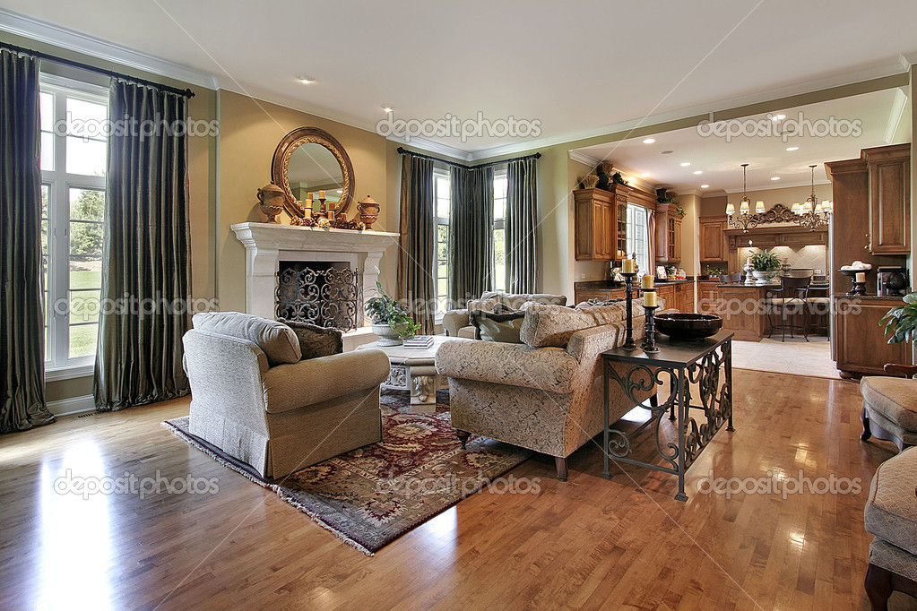 Traditional family room stock photo lmphot 8727414 for Pictures of clean homes