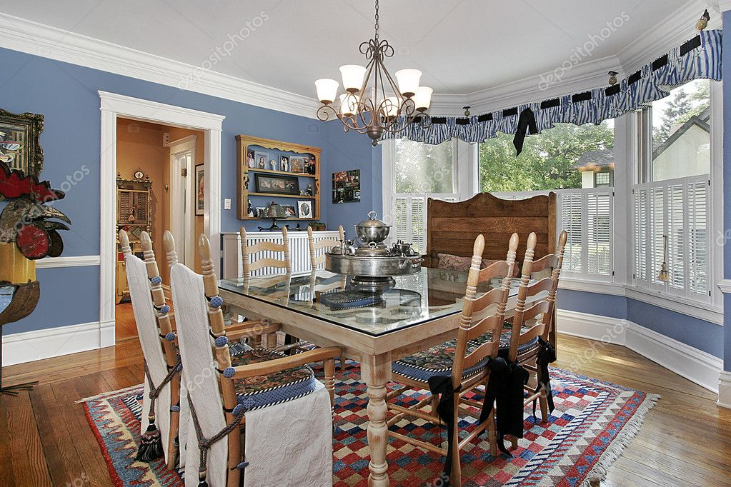 Country Style Dining Room Stock Photo Lmphot 8727607