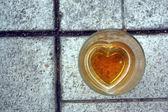 Beer heart — Stock Photo