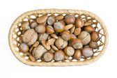 Box of nuts — Stock Photo