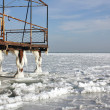Frozen pier — Stock Photo