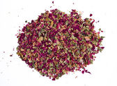 Pile of dried rose petals — Stock Photo