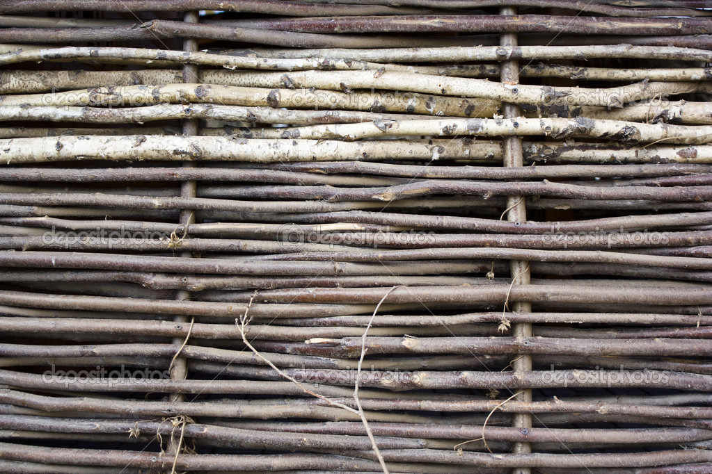 Woven fence of branches — Stock Photo #9224929