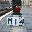 Railway traffic light — Stock Photo