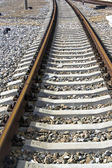 Tracks curve — Stockfoto