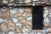Textura de la pared de ladrillo y ventanapencere ve tuğla duvar dokusu — Stok fotoğraf