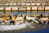 放棄された人工池 — ストック写真