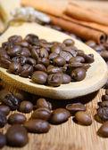 Grains of fragrant black coffee — Stock Photo