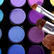 Eyeshadow, a makeup multi colored palette — Stock Photo