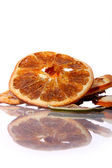 Dried orange on a wh — Stock Photo