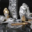 Stock Photo: Gold and Silver Shoes