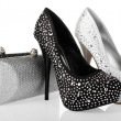 Shoes and Clutches — Stock Photo