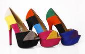 颜色块的鞋 — 图库照片