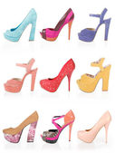 Multicolored shoes — Stock Photo