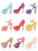 Wielobarwny buty — Zdjęcie stockowe