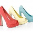 Colored shoes — Stock Photo
