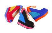 Zapatos de cuña color — Foto de Stock