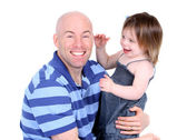 Handsome father with cute daughter sharing a laugh — Stock Photo