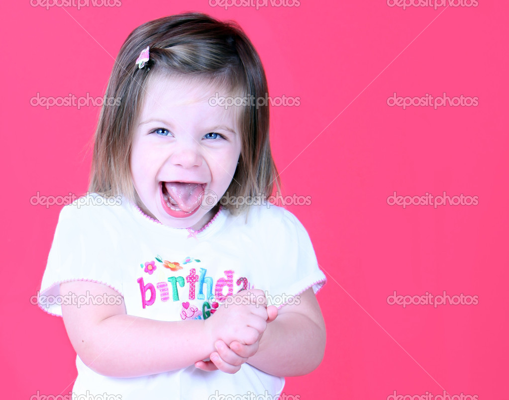 Excited Toddler girl — Stock Photo © ericro #8649891