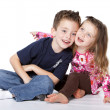 Siblings portrait - Stock Photo