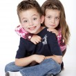 Siblings portrait — Stock Photo