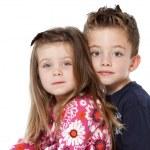 Siblings portrait — Stock Photo