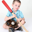 Stock Photo: Preschool boy holding bat