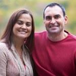 Hispanic couple outdoor portrait — Stock Photo