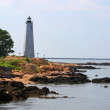 Stock Photo: Five Mile Point lighthouse on coast