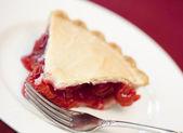 Slice of cherry pie — Stock Photo