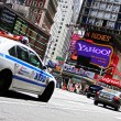 Times Square and NYPD location NYC — Stock Photo