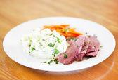 Corned beef dinner — Stock Photo