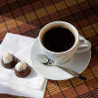 Cup of coffee and sweets — Stock Photo #9412200