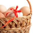 Basket with Easter eggs — Stock Photo #9845556