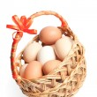 Basket with Easter eggs — Stock Photo #9845558