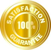 100 % satisfaction gold sign — Stock Photo