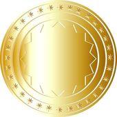 Zlatá mince 5 — Stock fotografie
