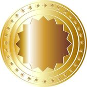 Zlatá mince — Stock fotografie