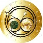 Gold clock — Stock Photo #9061991