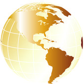Silver globe — Stock Photo