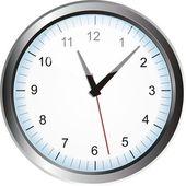 Stříbrný hodiny — Stock vektor