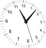 Clear clock — Stock Vector