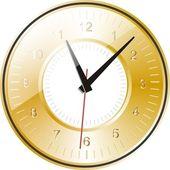 Złoty zegar — Wektor stockowy