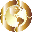 Gold globe — Stock Photo