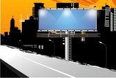 City billboard — Stock Vector