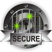 Secured sign — Stock Vector