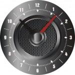 Silver clock — Stock Vector