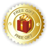 Free gift — Stock Vector